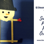 12 Days of Christmas-Snowman Picture Frame Craft for Kids