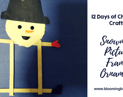 Crafts for Kids- Christmas Crafts- Snowman Picture Frame Craft. Looking for a fun craft this winter season for your kids? This snowman picture frame craft is adorable and fun and it super easy.