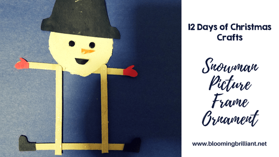 Crafts for Kids- Christmas Crafts- Snowman Picture Frame Ornament. Looking for a fun craft this winter season for your kids? This snowman picture frame ornament is adorable and fun and it super easy.