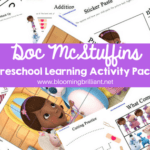Doc McStuffins Preschool Learning Activity Pack