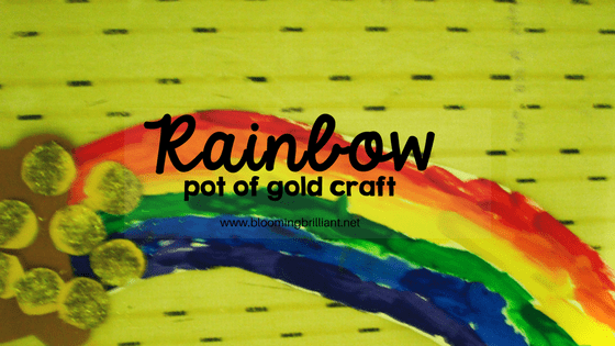 Celebrate St. Patrick's Day with this fun rainbow pot of gold craft for kids.