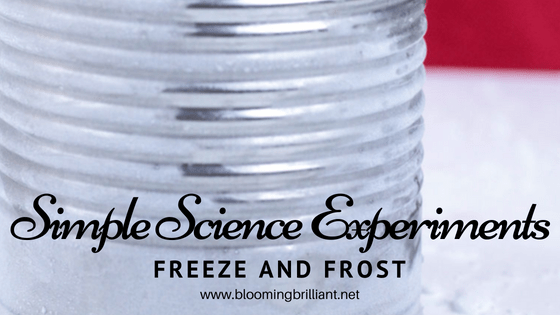 Simple Science Experiment for Kids- Freeze and Frost