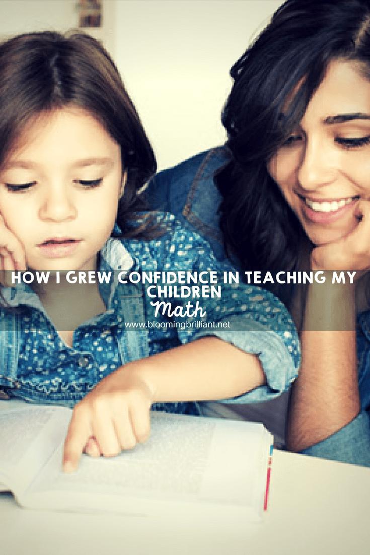 How I grew confidence in teaching my children math.