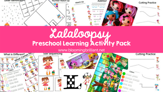 Lalaloopsy Preschool Learning Activity Pack Pin it