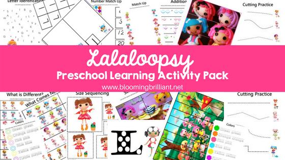 Lalaloopsy Preschool Learning Activity Pack Pin it