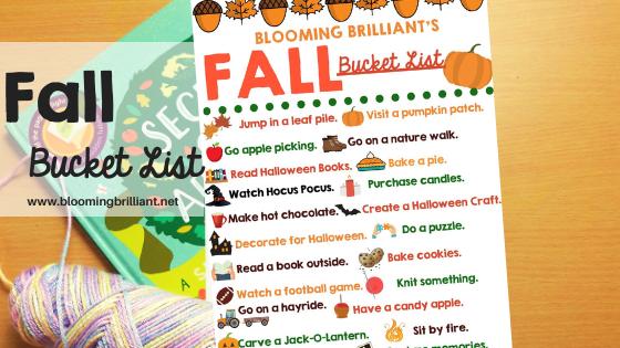 Fall Bucket List (Family Friendly)