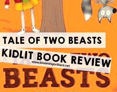 A Tale of Two Beasts by Fiona Roberton is a book that teaches children to be aware of all the sides of a story and how perspectives can be different.