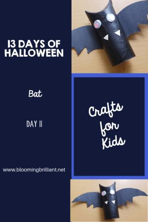 Crafts for Kids- Halloween Bat Craft! Looking for a fun Halloween Craft for your kids? This Halloween Bat Craft is so adorable and fun! #CraftsforKids