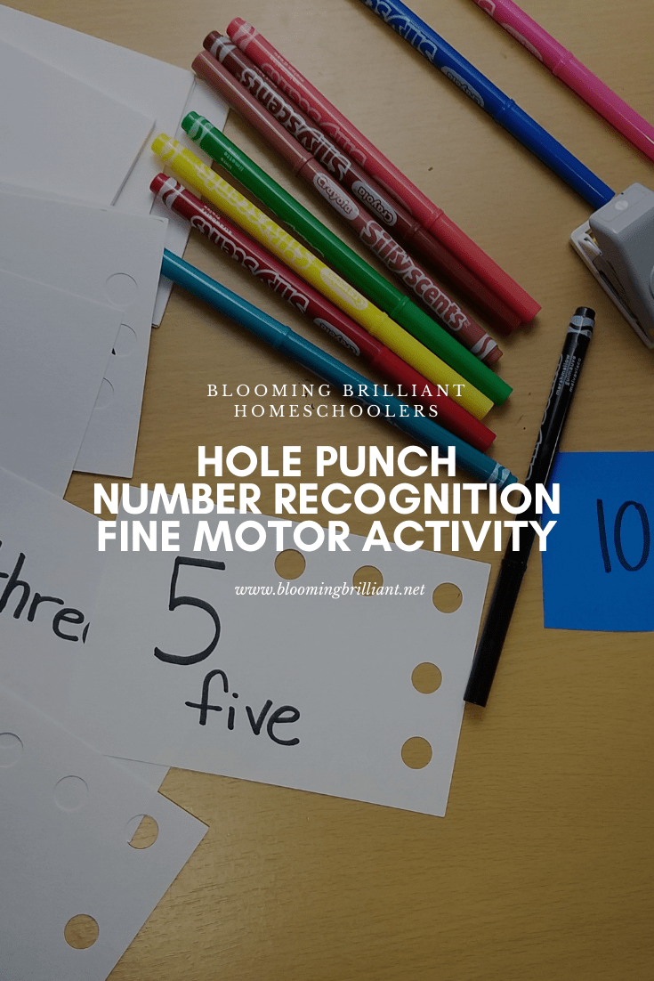 Hole Punch Number Recognition Fine Motor Activity
