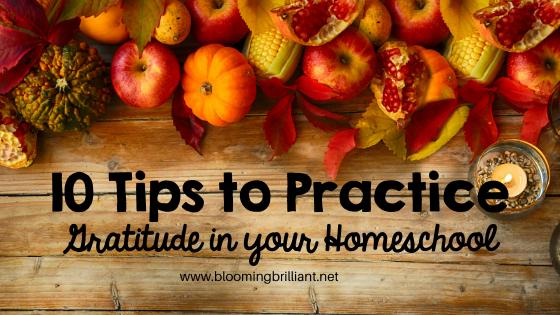 10 Tips to Practice Gratitude in Your Homeschool