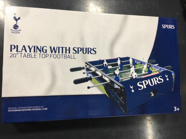Playing with Spurs 20 Inch Table Football