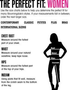 Women   size chart also womens charts rh bloomingdales