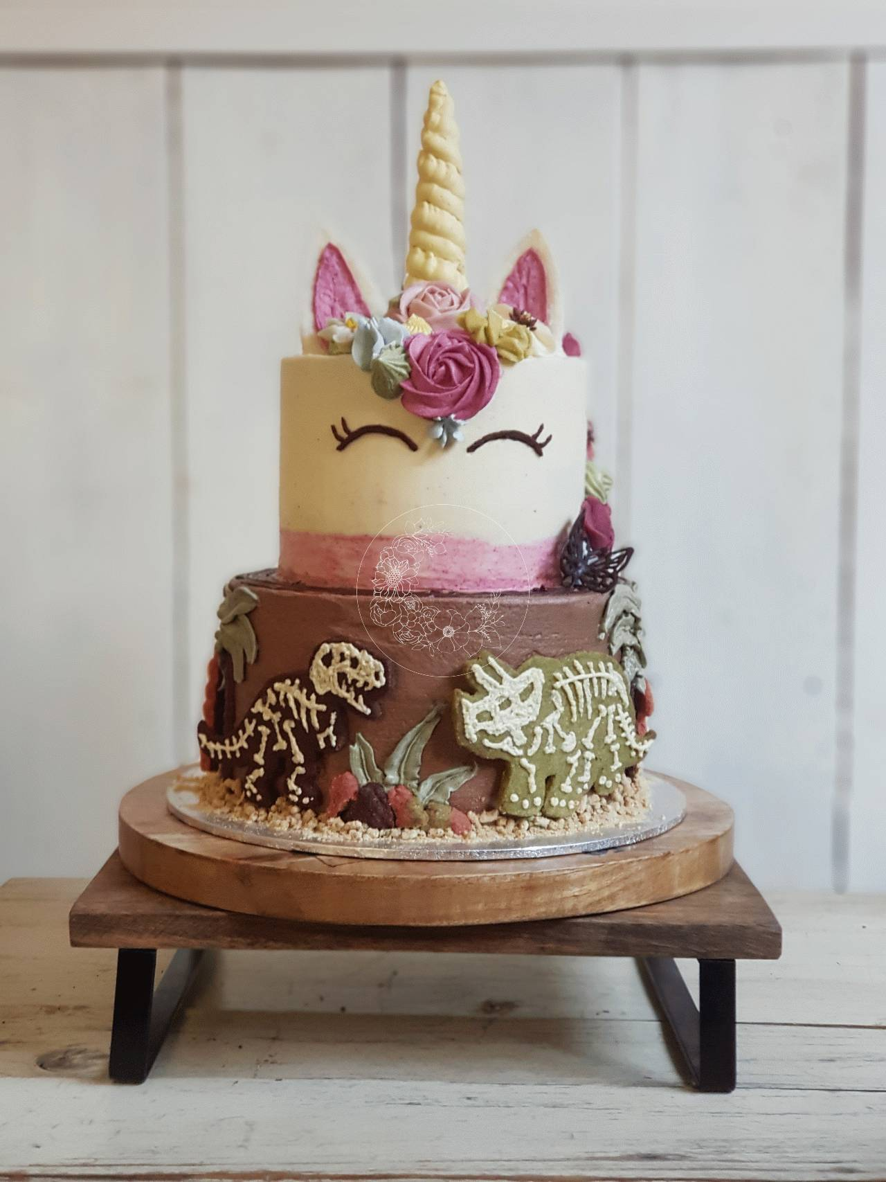 Dinosaur Unicorn Tier Cake Bloominghills