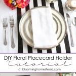 Diy Floral Placecard Holders Blooming Homestead