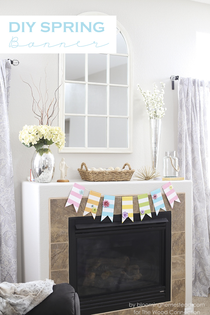 DIY Spring Banner by Blooming Homestead