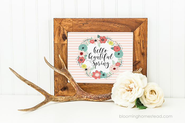 This Hello Spring Free Printable is the perfect way to usher in the new season