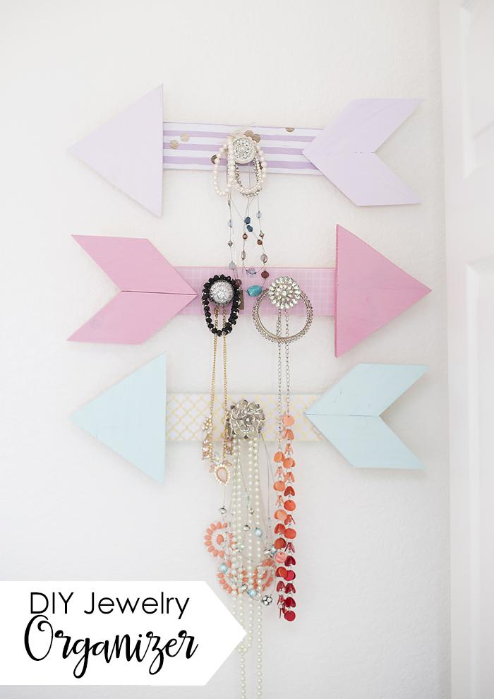 DIY Arrow Jewelry Organizer