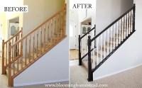 DIY Stair Railing Makeover - Blooming Homestead