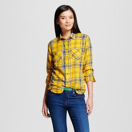 Women's Plaid Favorite Shirt - Merona yellow TARGET $22.99