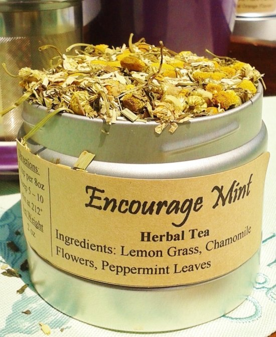 encourage mint tea