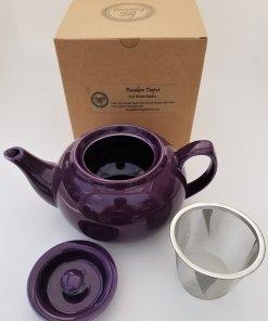 signature purple teapot infuser set