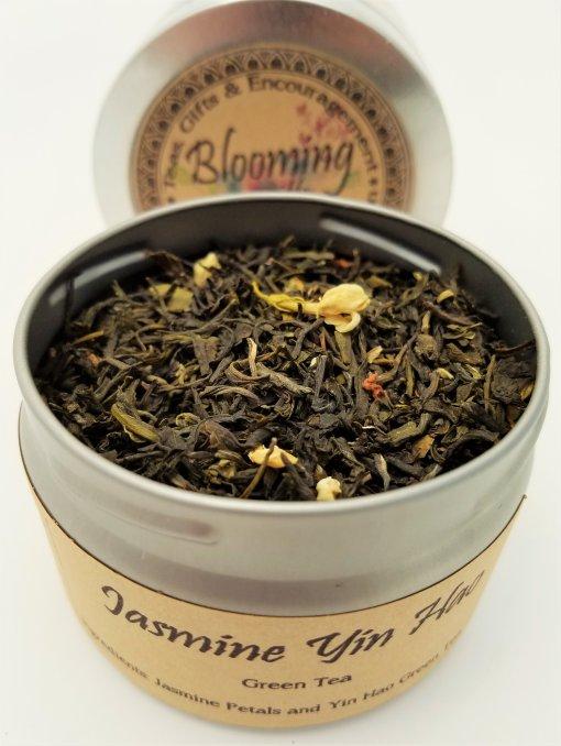 jasmine tea blooming with joy