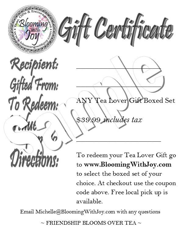 Blooming With Joy Tea Frequently Asked Questions