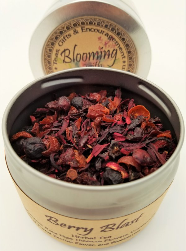 berry blast tea blooming with joy