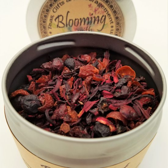 berry blast tea blooming with joy