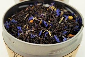 earl grey creme tea blooming with joy
