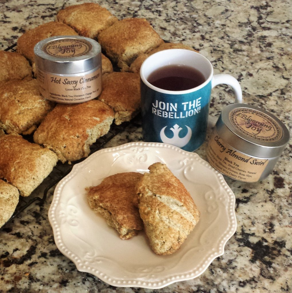 simple scones cooking with tea