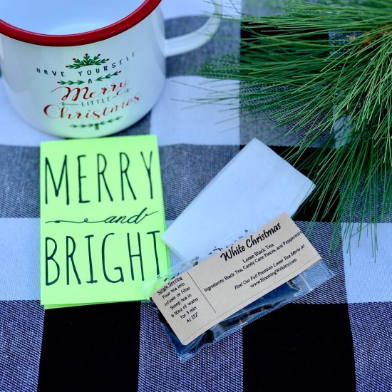 Merry and Bright Tea Favor Gift