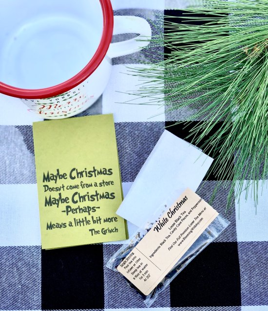 Dr Suess the Grinch Christmas Quote Tea Gift