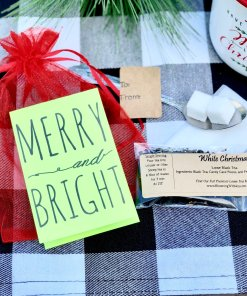 Merry and Bright Tea Favor christmas Gift