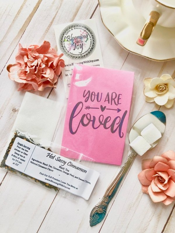 You are loved valentine tea favor