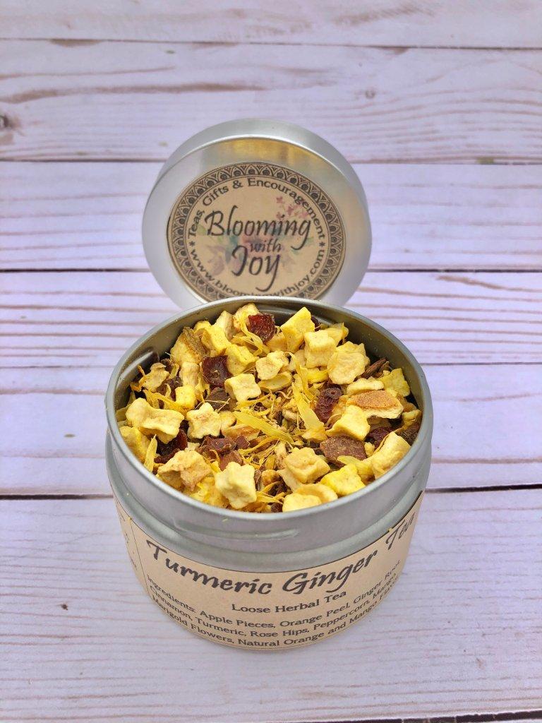 turmeric ginger tea herbal loose tea