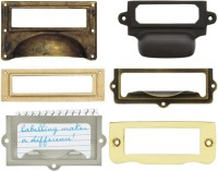 File Drawer Label Holders Metal