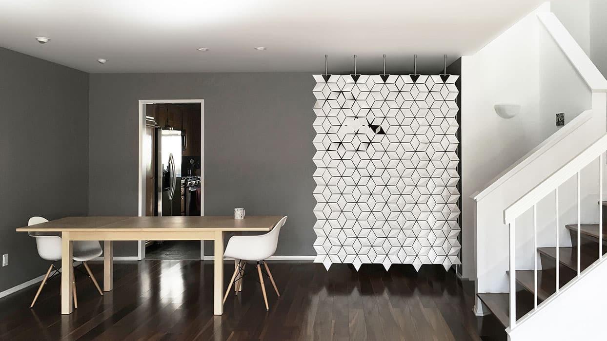 Hanging room divider Facet  Bloomming