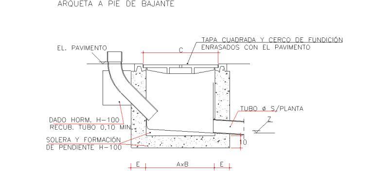 Bloques AutoCAD Gratis  Instalaciones de saneamiento