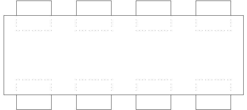 Bloques AutoCAD Gratis  Muebles  Mesa de comedor y oficina