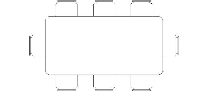 Bloques AutoCAD Gratis  Muebles  Mesa de comedor