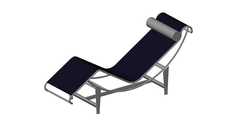 Bloques AutoCAD Gratis de silln Le Corbusier LC4 en 3 dimensiones