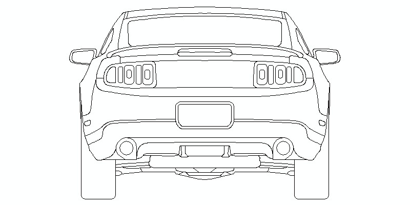 Bloques AutoCAD Gratis de Ford Mustang Shelby GT500 2010
