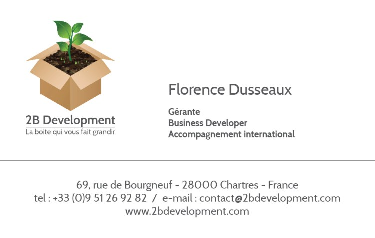 Carte de visite – 2B Development