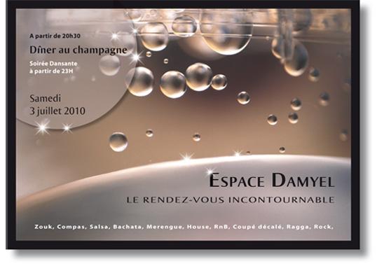 Carte invitation – Espace Damyel