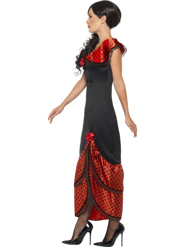 Ca198 Flamenco Senorita Spanish Mexican Dancer Saloon Dress Costume