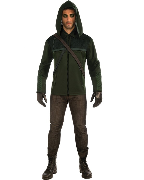 Cl650 Green Arrow Shirt Avengers Superhero Hero Mens Fancy