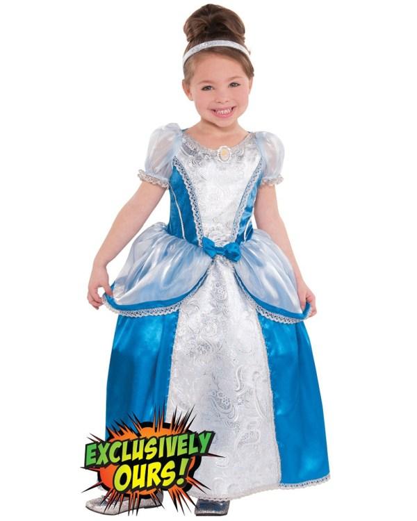 Kk10 Deluxe Cinderella Girls Fairy Tale Toddler Book Week Fancy Dress Costume