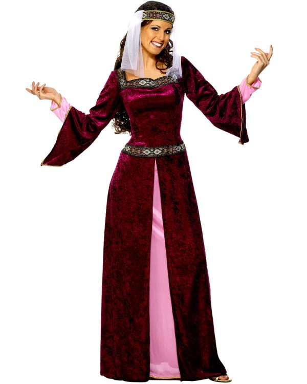 Cl417 Maid Marion Adult Costume Medieval Fancy Dress