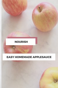 Homemade Applesauce {Perfect egg replacer in baking!}